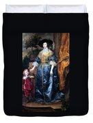 Queen Henrietta Maria (1609-69) Duvet Cover