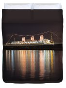Queen Mary Decked Out For The Holidays Duvet Cover