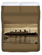 Queen Mary In Sepia Duvet Cover