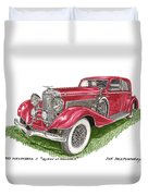 Queen Of Diamonds 1933 Duesenberg Model J Duvet Cover