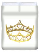 Queen Of Hearts Crown Tiara By Kristie Hubler Duvet Cover