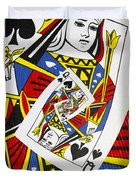 Queen Of Spades Collage Duvet Cover