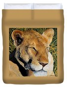 Queen Of The African Savannah Duvet Cover