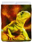 Queen Of The Reptiles Duvet Cover by Ayse Deniz