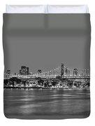 Queensboro Bridge 59th Street Nyc Bw Duvet Cover