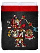 Quetzalcoatl In Human Warrior Form - Codex Magliabechiano Duvet Cover