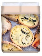 Quiches Pizza And Breads Duvet Cover