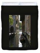 Quiet Canal In Venice Duvet Cover