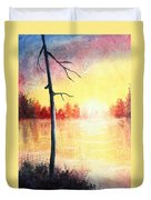 Quiet Evening By The River Duvet Cover