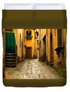 Quiet Lane In Tuscany 1 Duvet Cover