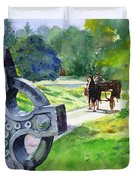 Quiet Man Watercolor 2 Duvet Cover