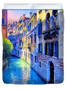 Quiet Morning In Venice Duvet Cover