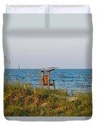 Quiet On The Beach Duvet Cover