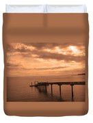 Quiet Peachy Toned Pier Duvet Cover