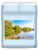 Quiet River With Trees Duvet Cover
