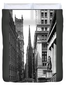 Quiet Sunday On Wall Street Duvet Cover