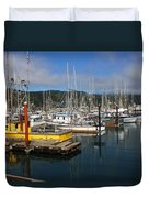 Quiet Time At The Harbor Duvet Cover