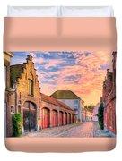 Quiet Village Sunset Duvet Cover