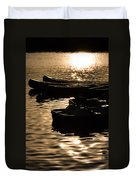 Quiet Waters At Sunset Duvet Cover