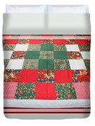Quilt Christmas Blocks Duvet Cover