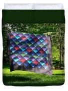 Quilt Top In The Breeze Duvet Cover