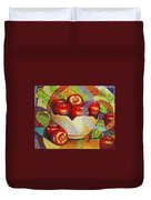quilted Apples Duvet Cover