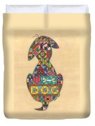 Quilted Dog Duvet Cover
