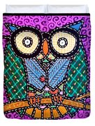 Quilted Dr Owl Duvet Cover