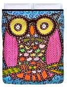 Quilted Judge Owl Duvet Cover