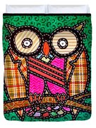 Quilted Mr Owl Esquire Duvet Cover