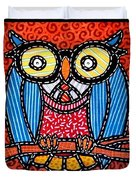 Quilted Professor Owl Duvet Cover