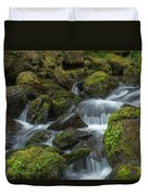 Quinault Waterfall Duvet Cover