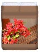 Quince Blossoms Duvet Cover