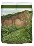 Quince Trees Duvet Cover
