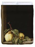 Quinces Duvet Cover by Jenny Barron