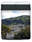 Quito From El Panecillo Duvet Cover
