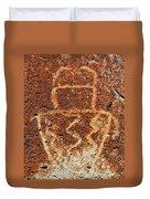 Shaman Petroglyph C Duvet Cover