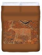 Big Horn Sheep Rock Art B Duvet Cover