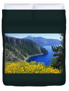 D2m5622-rabbit Brush At Crater Lake Duvet Cover