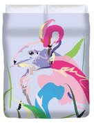 Rabbit - Bunny In Color Duvet Cover
