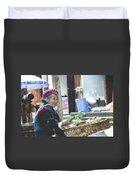 Rabbit Vender Pastel Chalk 2 Duvet Cover