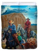 Rabbitbrush Round-up Duvet Cover