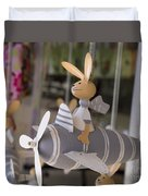Rabbits Can Fly Duvet Cover