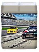 Race Car Track View Duvet Cover