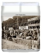 Race Cars Crown Point Indiana June 19 1909 Duvet Cover