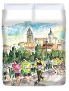 Race In Salamanca Duvet Cover