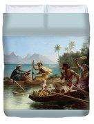 Race To The Market Tahiti Duvet Cover