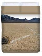 Racetrack Sailing Rocks Death Valley National Park Duvet Cover