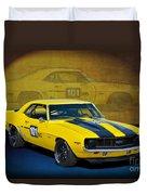 Racing Camaro Duvet Cover