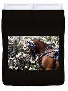 Racing Horse  Duvet Cover